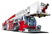 Vector Cartoon Fire Truck Lowrider Available AI-10 vector format separated by groups and layers for easy edit