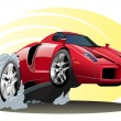 Постер, плакат: Vector Cartoon Sportcar