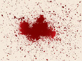 Illustration with drops of blood vector image