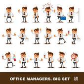 Sada happy kancelář člověka