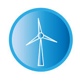 Vector illustration of wind turbine icon