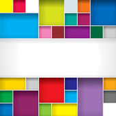 Abstract color boxes background with copy space