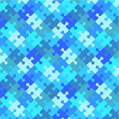 Winter or water colors puzzle background, seamless pattern included