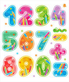 Colorful decorated numbers see also same style ABC set with design elements in my portfolio
