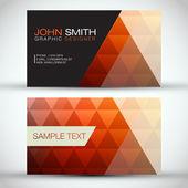 Oranžové moderní abstraktní podnikání - karta sada eps10 vektorová design