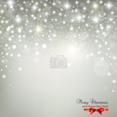 Elegant Christmas background with snowflakes and place for text.