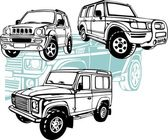 Off-Road Cars - Vector set Vinyl-Ready