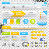 Web Elements Site Navigation Menu Pack Design Template