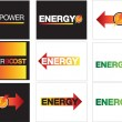 Постер, плакат: Energy power and maximum energy backgrounds or symbols