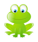 Funny frog isolated on white