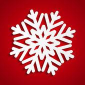 Papír vánoční vločka na červené