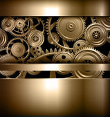 Technology background metallic gears and cogwheels vector