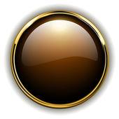 Gold button shiny metallic vector illustration