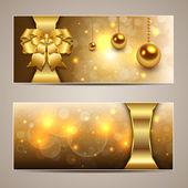 Elegant Christmas banners gold vector