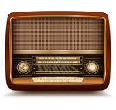 Radio retro realistic vector illustration
