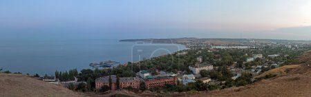 Постер, плакат: Панорама города Керчь Panorama Kerch, холст на подрамнике
