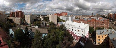 Постер, плакат: Панорама города Уфы Panorama sity Ufa, холст на подрамнике
