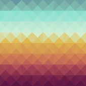 Colorful retro hipsters triangle seamless pattern background Vector file layered for easy manipulation and custom coloring