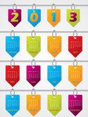 Impiccagione colorato calendario modello per lanno 2013