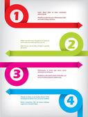Curling színű nyíl infographic design