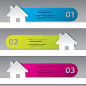 Inforaphic Design mit Haus-Aufkleber