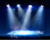 Row of spotlights from a stage Vector illustration