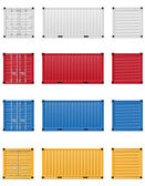 Cargo container vector illustration isolated on white background
