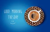 Tazza di buon caffè del mattino