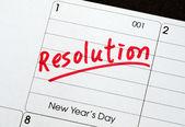 Rozlišení pro nový rok pojmy cíle a cíle