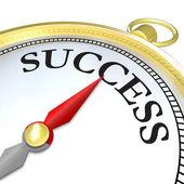 Kompas šipka směřující k úspěchu dosáhl cíle