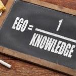 Постер, плакат: Ego and knowledge concept