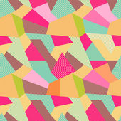 Indian Seamless Patchwork Pattern Colorful Indian Carpet Vector Background