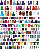 Velké kolekce oblečení a doplňků