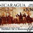 Постер, плакат: Postage stamp Nicaragua 1982 The March to Valley Forge