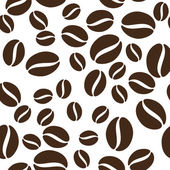 Coffee beans seamless texture Vector illustration