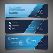 Blue Abstract Header or Banner Designs Modern Colorful Website Design Elements - Freely Scalable and Editable Vector Format Included