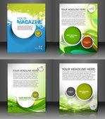 Set of presentation of flyer design content background