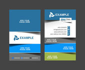 Vector business card set, isolated with soft shadow design.