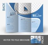 Milk Store Tri-Fold Mock up  Front Brochure Design.