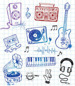 Vector Illustration Of Sketchy Music Icons Music equipment illustrations