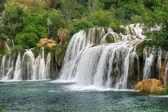 Krka folyó vízesései a Krka Nemzeti Park, Roski pofon, Horvátország