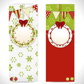 Christmas banners with bauble labels bunting and buttons