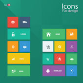 Icon concepts in metro style Editable vector format