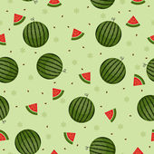 Watermelon seamless wallpaper green background