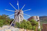 Ancient windmills of Lasithi Plateau on Crete
