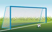 Soccer ball and gate Vector illustration