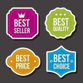 Colorful labels over gray background vector illutration