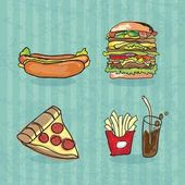 Fast Food Industry burger pizza hot dog cola french fries
