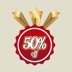 Постер, плакат: Fifty percent off