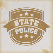 State police seal over vintage background vector illustration